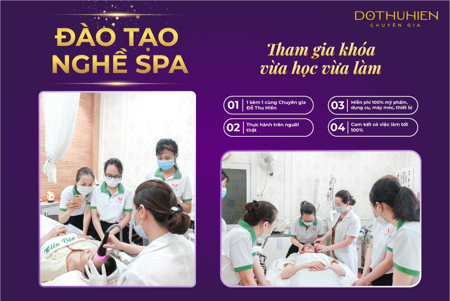 Đào tạo nghề spa tại Hiền Vân Academy