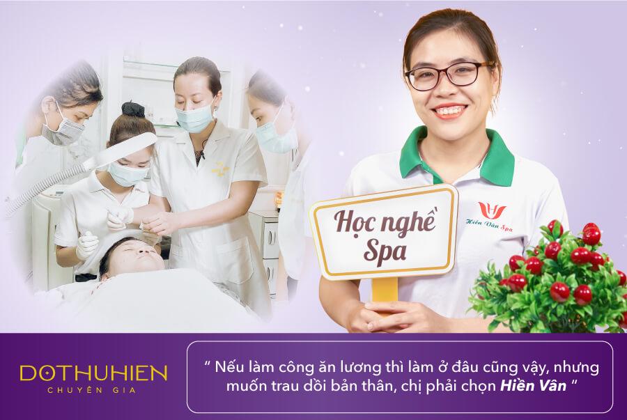 Học viên Đỗ Thị Thúy học nghề spa tại Hiền Vân Academy